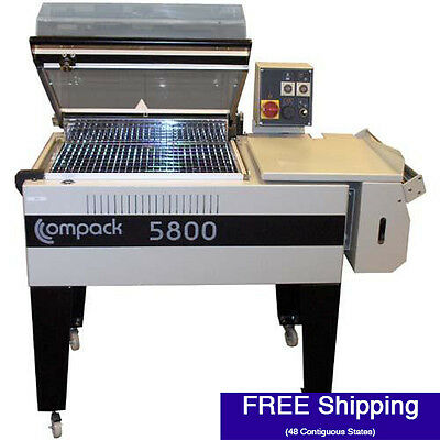 Shrink Wrap Machine - Compack 5800 L-bar System W Integrated Heat Tunnel 18 W