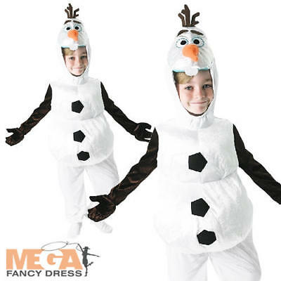 Disney Frozen Olaf Kids Fancy Dress Fairytale Snowman Boys Girls Costume Outfit