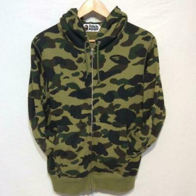 A BATHING APE Bape Green Camo Hoodie Jacket XL