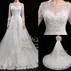 Corset Champagne Long Sleeve Wedding Dresses