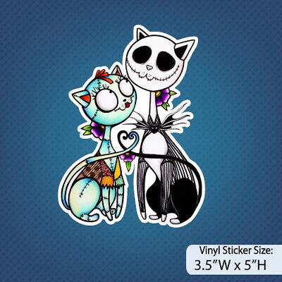 Nightmare Before Christmas /Jack and Sally/Ver E/Disney/Halloween/Cats/ Sticker](Halloween Jack And Sally)