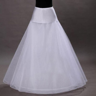 White A-Line Bridal Underskirt Slip One Hoop Full Length Wedding Petticoat for sale  Shipping to United Kingdom