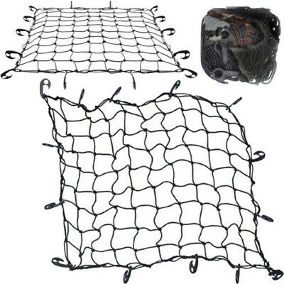 LARGE CARGO NET CAR VAN TRUCK TRAILER 12 HOOKS BUNGEE CORD ATV RACKS NETS NEW