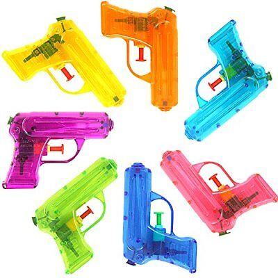German Trendseller® - 12 x Wasserpistolen Transparent | NEU | Mitgebsel | Kinder