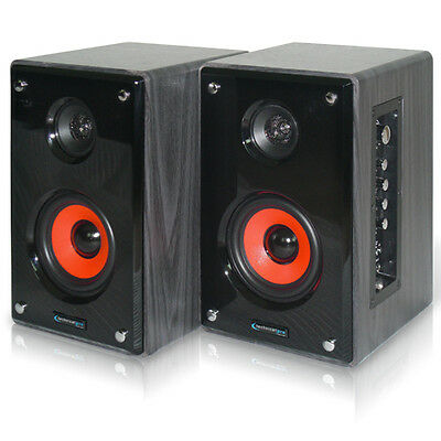 Technical Pro MRS4UR Pair Studio Monitors with USB SD Computer TV Speakers on Rummage
