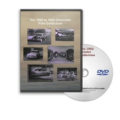 1950 1952 chevrolet chevy sales training films powerglide unisteel dvd c197