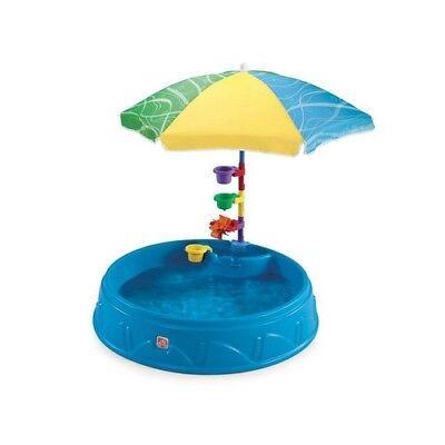 In the sky Ground Swimming Pool Kids Children Umbrella Plastic Round Sandbox 37.5X7in