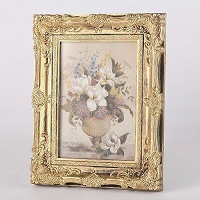 "CraftbuddyUS Vintage Ornate Baroque Rococo-style Gold Photo Picture Frame-5""x7"""