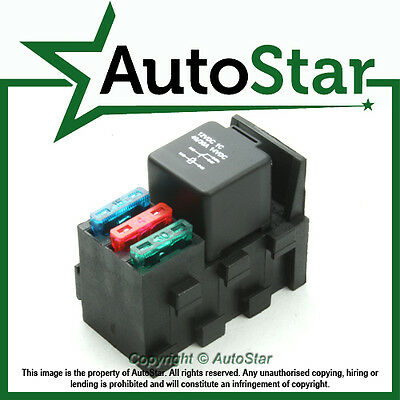 Relay & 3 Fuse Base Kit - 4, 5 PIN & Flasher Relays, ATO Fuses Holder Socket Box