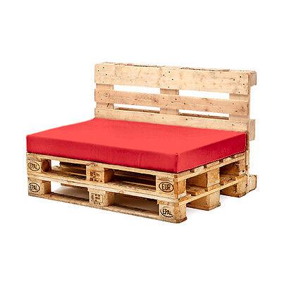 Red Seat Cushion for Euro Pallet Garden Furniture Waterproof Outdoor Sofa UK