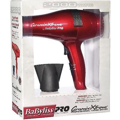 Babyliss PRO Ceramix Xtreme 2000 Watt Ultra Light Weight Hair Dryer BABR5572 Red