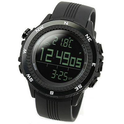 LAD WEATHER German Sensor Altimeter Barometer Black Outdoor Sports Watch