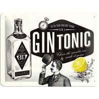 Targa In Latta Vintage Gin Tonic In Metallo Stampato 15 X 20 -  - ebay.it