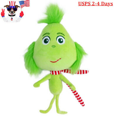 USA Grinch With Scarf Doll Dr Seuss How the Grinch Stole Christmas Plush Toys](Dr Seuss Scarf)