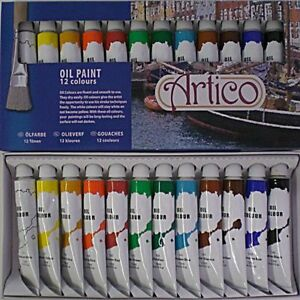 ARTISTS OIL PAINTS PAINTING SET PAINTERS COLOURS TUBES PICTURES SUPPLIES KIT