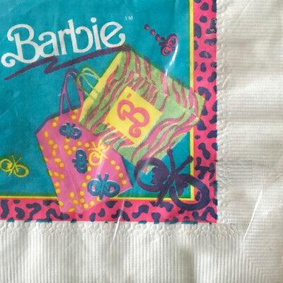 BARBIE VINTAGE Animal Print SMALL NAPKINS (16) ~ Birthday Party Supplies Dessert - Animal Print Birthday Supplies