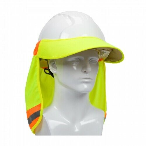 Hi-Vis Yellow Hard Hat Visor and Neck Shade