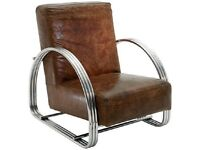 Desinger by Andrew Martin Brown Leather Cadillac Armchair - rrp £1395
