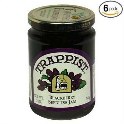 Trappist Jam Blackberry Seedless, PartNo 213683, by Trappist, Single case of 12