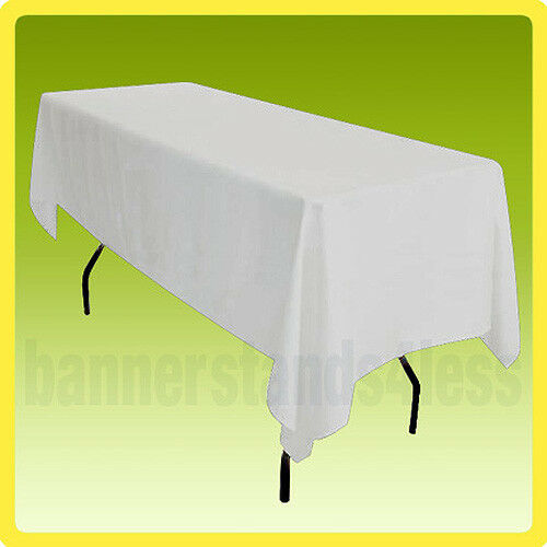 60x102 Table Cover Tablecloth Rectangle Wedding Banquet Event - WHITE