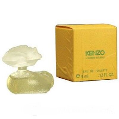 Kenzo Le Monde Est Beau 0 12 Oz   4 Ml Edt Splash Miniature Women   New In Box
