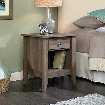 منضدة جانب السرير جديد Sauder Shoal Creek Night Stand 418660 Diamond Ash NEW