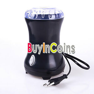 Mini Electric Coffee Spice Grinder Maker Beans Herbs Nuts Stainless Steel Blades