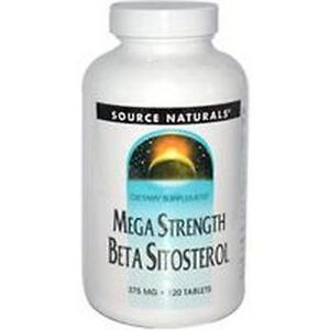 Beta Sitosterol,  Mega Strength, 375mg x 120Tablets, Source Naturals, UK Stocks