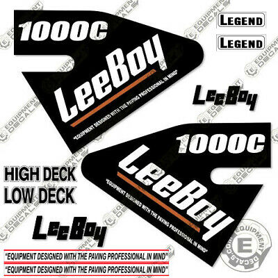 Leeboy 1000c Decal Kit Asphalt Paver Equipment Decals - 7 Year Vinyl