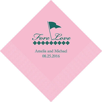 Golf Cocktail Napkins (300 Golf Theme Personalized Wedding Cocktail)