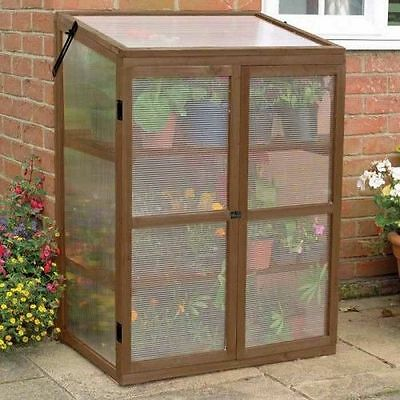 Gardman Garden Cold Frame Wooden Growhouse Mini Plant Greenhouse