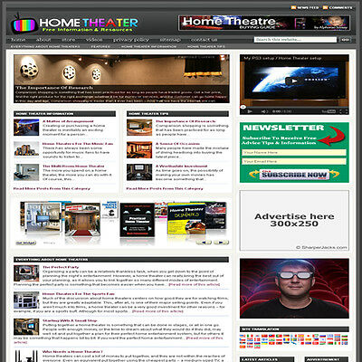 Established Home Theater Affiliate Website Turnkey Business Free Hosting