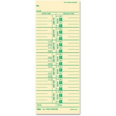 Tops Weekly Time Card