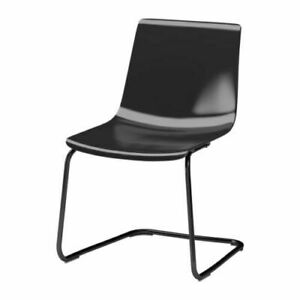 IKEA Tobias Chair, black plastic
