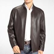 Mens Leather Coat 5XL