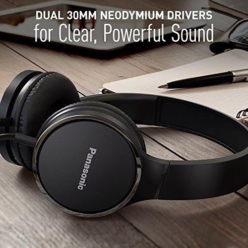 Panasonic Premium Sound On Ear Stereo Headphones RP-HF300M-K