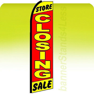 Store Closing Sale Swooper Flag Out Business Feather Banner Sign 11.5 - Rz