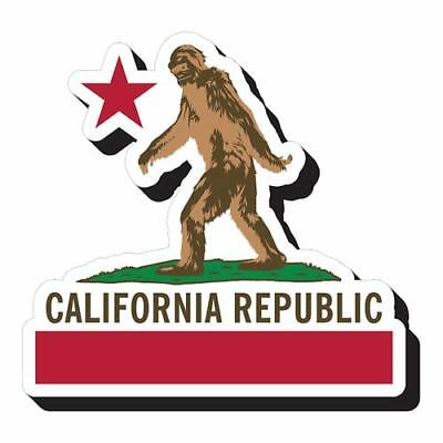 Aquarius Bigfoot Flag Funky Chunky Magnet