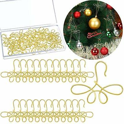 30 Pieces Christmas Tree Ornament Hooks Xmas Ornament Hangers Metal Wire Hook...