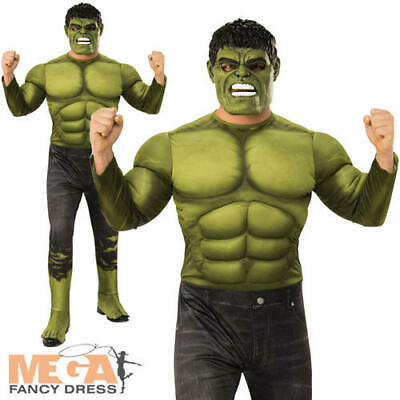Deluxe Hulk Mens Fancy Dress Avengers Endgame Adult Superhero Comic Book - Adult Deluxe Hulk Kostüm