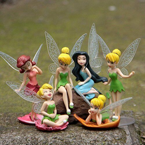 6pc Tinkerbell Princess Fairy Figures Flying Adorable Mini T