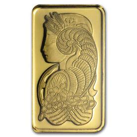 Pamp Suisse-Goldbarren, 5 Gramm, Feinheit: 999,9/1000 (in Zertifikat)