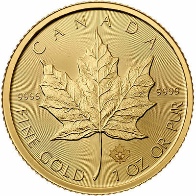 2017 1 oz Canadian Gold Maple Leaf Coin (BU)
