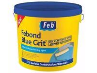 FEBOND BLUE GRIT BONDING AGENT 15 LITRE PURPOSE PRIMER AND ADMIXTURE FEB DIY ARTEX PAINT