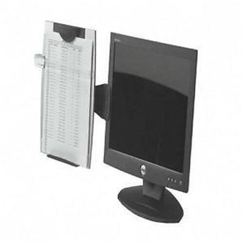 Fellowes 80333 Adjustable Monitor Mount Copyholder ~ Free Shipping