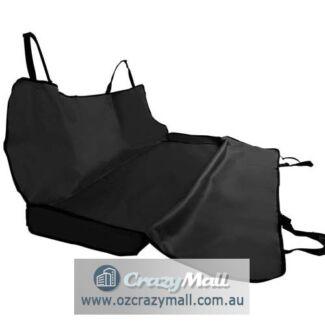 Dog Hammock Car Back Seat Cover Mat Basket Black/Blue