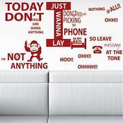 Music Lyrics Wall Stickers