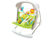 Fisher Price rainforest friends takealong baby swing