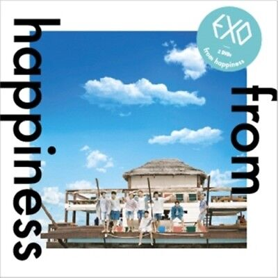 EXO - [From Happiness] DVD 2 Disc+Booklet+Card K-POP Sealed Limited Edition