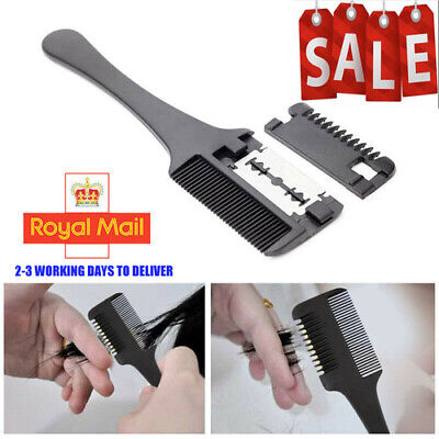 DIY Hair Razor Comb Cutting Thinning Home Trimmer with Inside Blades Hair Comb